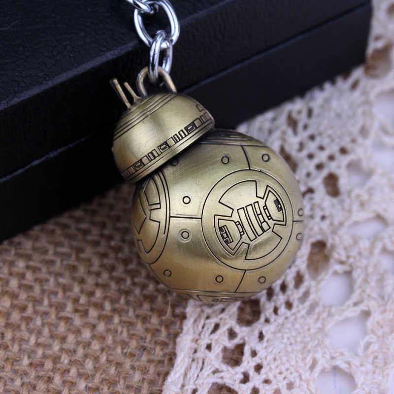 뜨거운 판매 영화 스타 워즈 귀여운 로봇 BB-8 bb8 코스프레 열쇠 고리 우주선 펜던트, 열쇠 고리 스타 워즈 기념품 llaveros 키