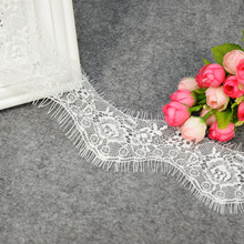 ZOTOONE 7*300CM White Black African Lace Fabric Ribbon for Needlework Accessories Water Soluble Flowers Eyelash E