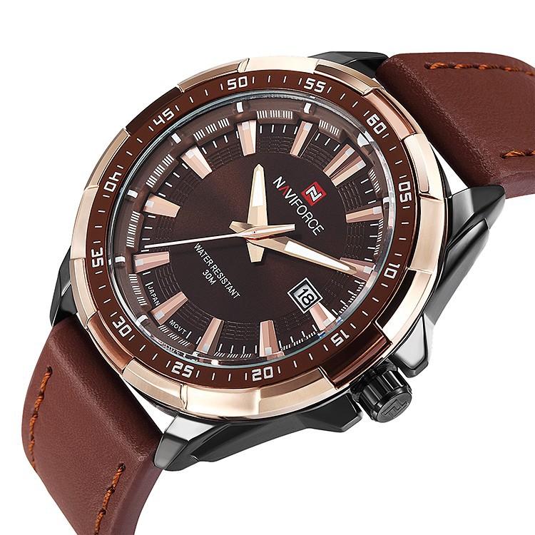 Mens Watches Top Brand Luxury NAVIFORCE Sport Men's Quartz Watch Waterproof Wristwatch Leather Male Clock Relogio Masculino 8