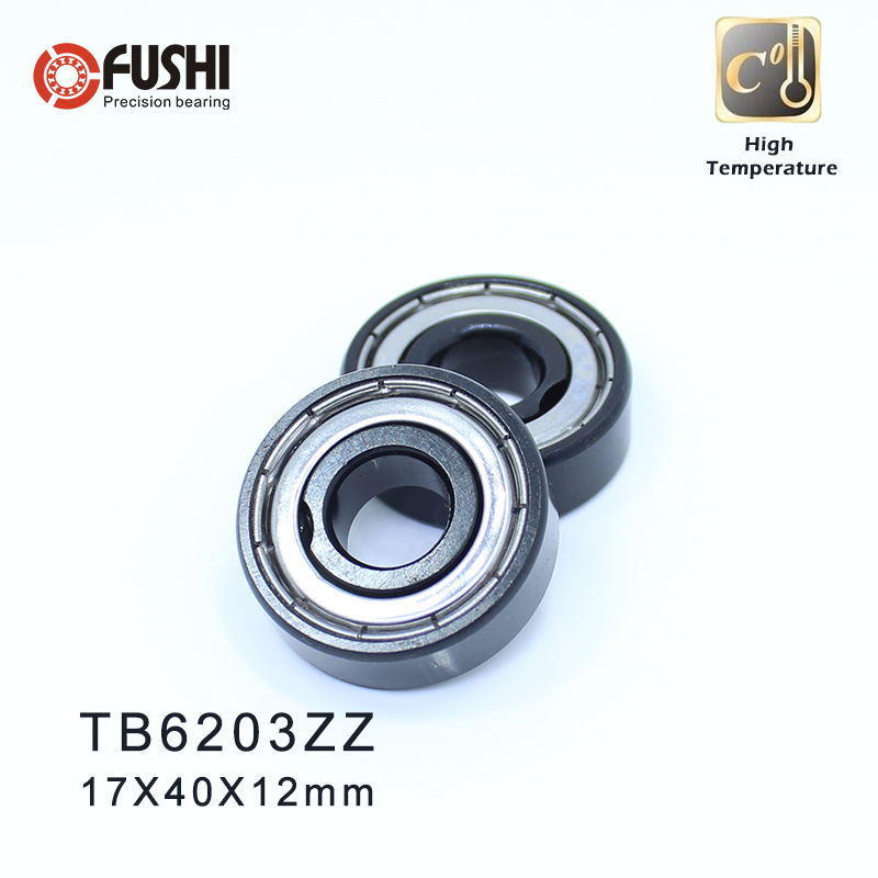 6203ZZ High Temperature Bearing 17*40*12 mm ( 2 Pcs ) 500 Degrees Celsius Full Ball Bearing image