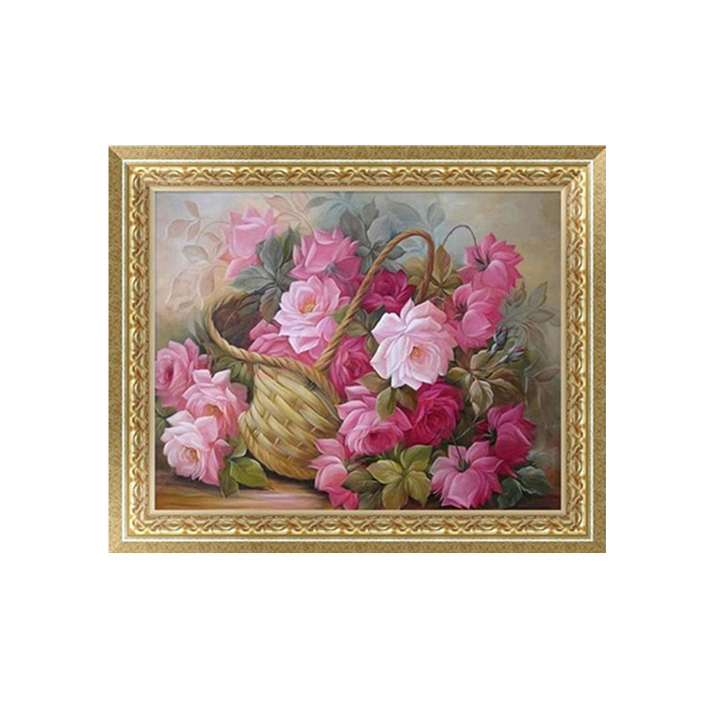 5D DIY Flower Basket Diamond Embroidery Painting Cross Stitch Home Decor Craft