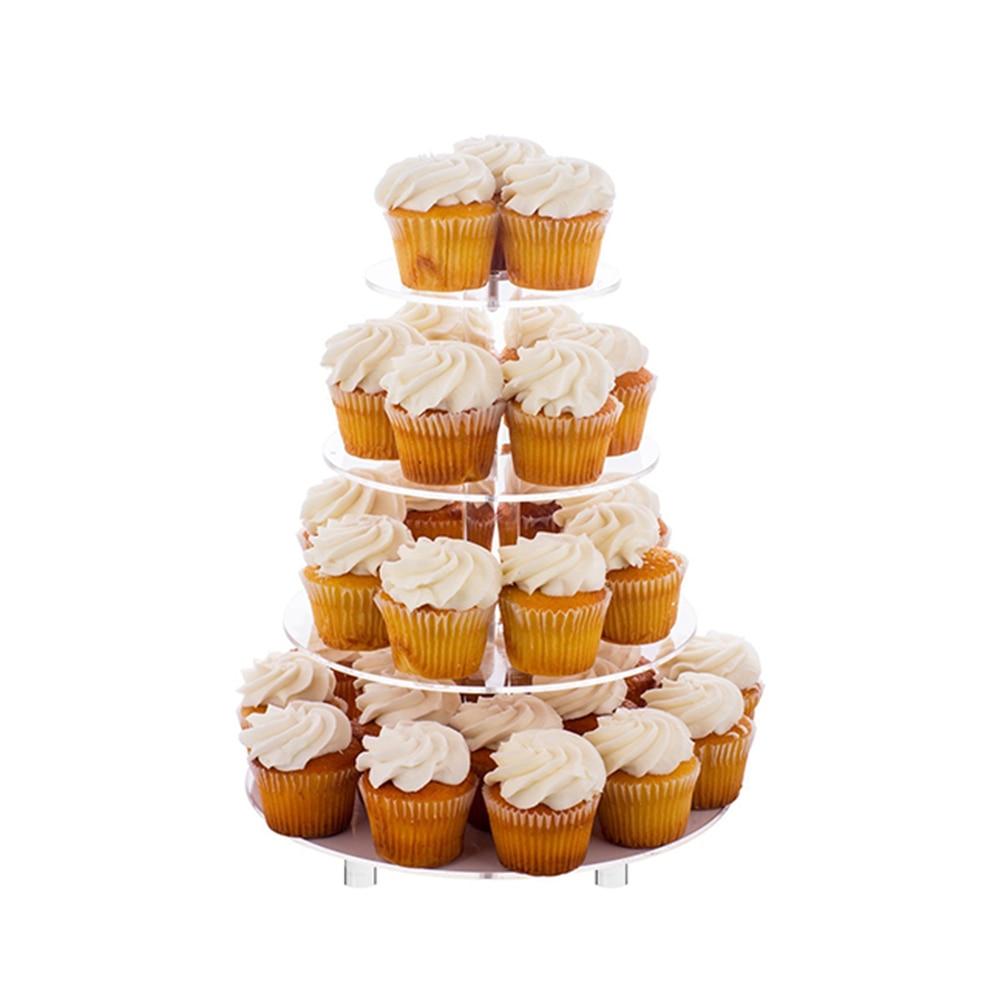 3 pakopų krištolo akrilo pyragų stovų rinkinių armatūra - Virtuvė, valgomasis ir baras