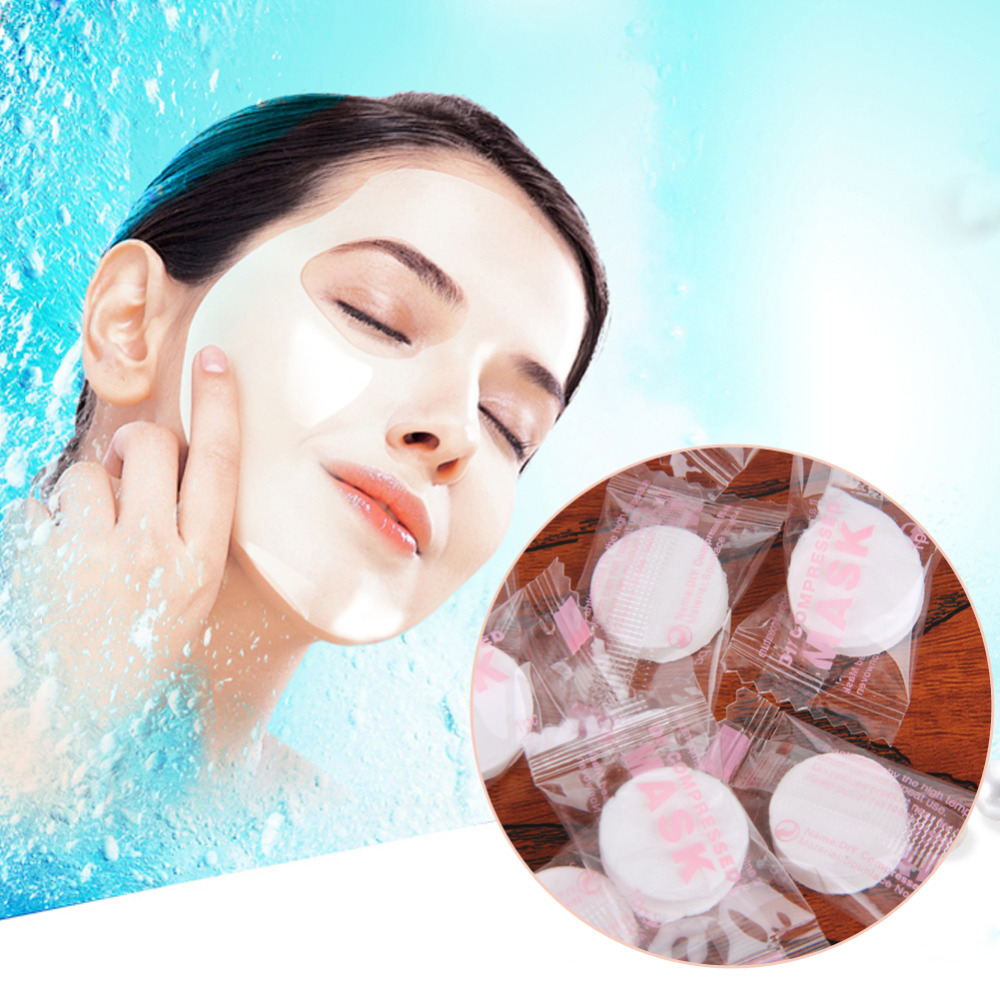 100Pcs/pack Face Care DIY Mask Compressed Natural Facial Mask Cotton Beauty Facial Compress Cotton Masque Face Care Tools