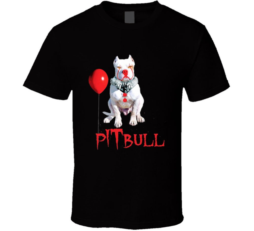 <font><b>Pit</b></font> <font><b>Bull</b></font> Penny Wise It Clown Parody Scary Halloween Cosplay Costume Funny 2019 Creative Novelty Summer Style Slim Fit T <font><b>Shirts</b></font> image