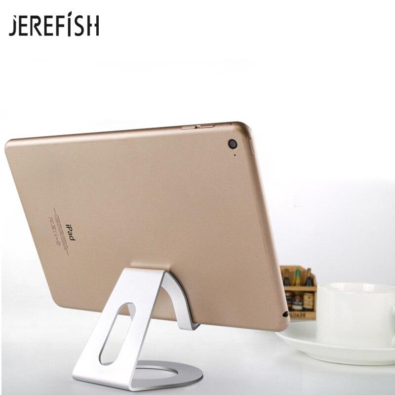 JEREFISH Aluminum Alloy Tablet Holder Desktop Mobile Phone Holder Stand Mount Support Bracket Universal for iPad Pro Air Mini