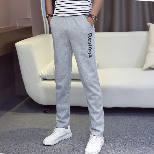 Autumn Men knitted pants male trousers loose straight health pants plus size male casual pants