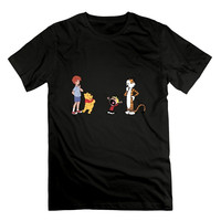 Newest Funny Anime Robin Calvin Hobbes Vintage 100 Cotton T Shirt Cartoon Tee Shirt Homme High