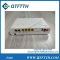 Original zte f660 zxa10 gpon onu con 4 puertos lan 2 puerto de voz + 1 wifi, interfaz de inglés
