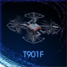 Gteng t901f rc helicopter mini drone camera with remote control toysdron quadcopter quad copter droni radio nano done