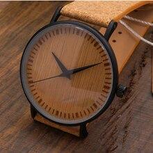 Bobobird E19 de Cuarzo Relojes de Lujo Top Brand Design Reloj Con Esfera Del Reloj y Tiras De Cuero en Paquete de Regalo De Madera