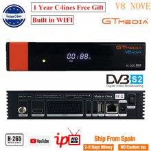 Gtmedia v8 nova 풀 hd DVB S2 위성 수신기 1 년 유럽 cccam 7 라인 freesat v8 super에서 동일한 freesat v9 슈퍼 업그레이드