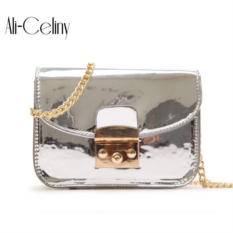 2018 HOT Fun personalized fashion laser shell shape chain shoulder bag purse ladies crossbody handbag mini messenger bag flap