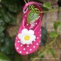 2016 New Baby Flip-flop Slippers Girls Sandals Pink Children Shoes Fashion Flowers Polka Dot Children Sandals Grils Shoes