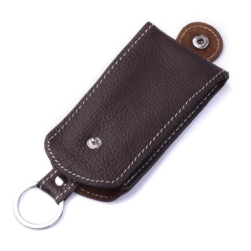 Genuine Leather Pull-style Car Key Holder Case Women Housekeeper Organizer Automobile Car Keys Hasp Holder Keychain