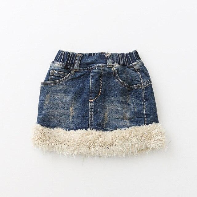 5973dc56f8f0 Baby Girls Denim skirts 2018 Kids Girls Wash Blue Fashion Jean Skirts  Babies Winter Casual Skirts