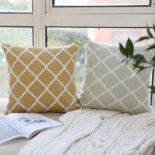 Pillowcase Nodic Geometric Print Throw Pillow Case Cushion Cotton Linen Throw Square Waist Car Bedroom Home Office Decorative цена в Москве и Питере