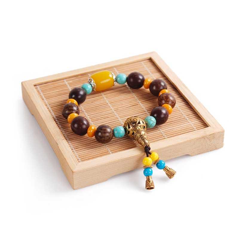 الخيزران عقد خشبي سوار مجوهرات عرض موقف حامل معرضا رف سحر