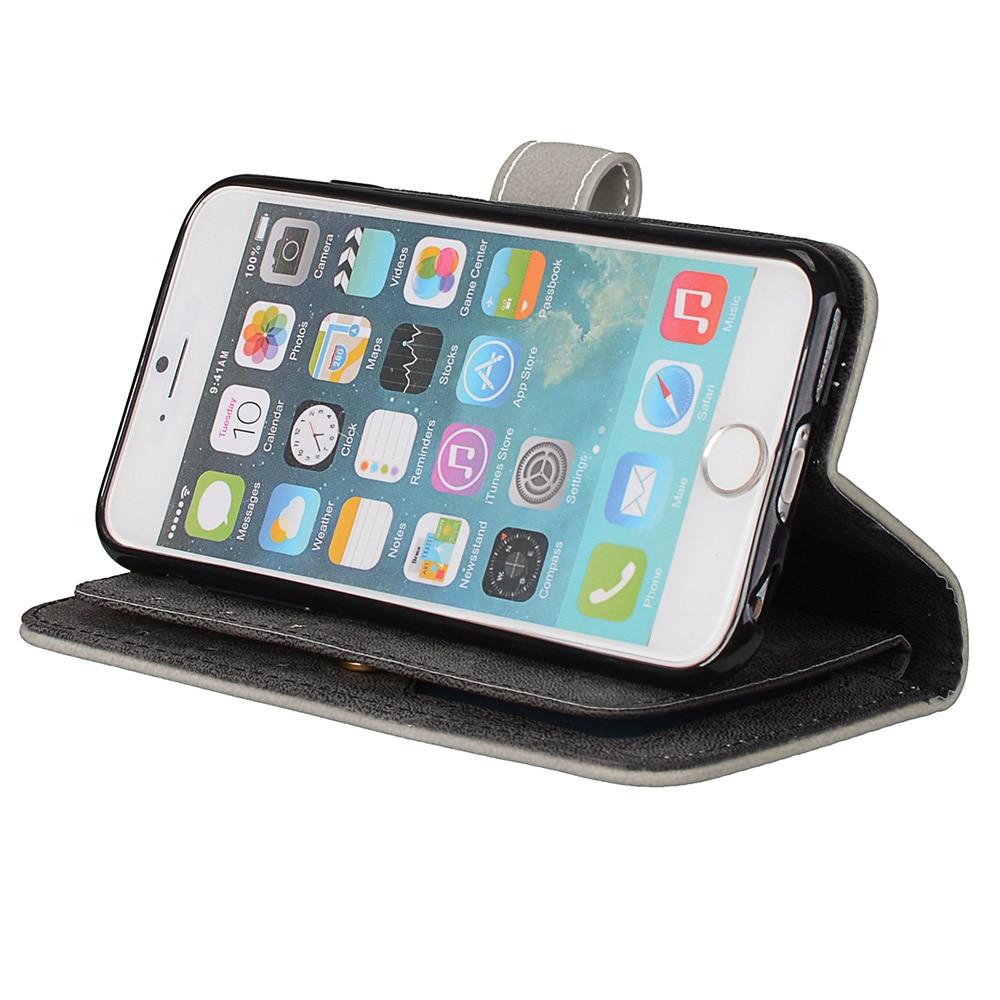 LUCKBUY 7 7Plus, Lüks PU dəri cüzdanı, iPhone 5 5S SE 6 6s Plus - Cib telefonu aksesuarları və hissələri - Fotoqrafiya 4