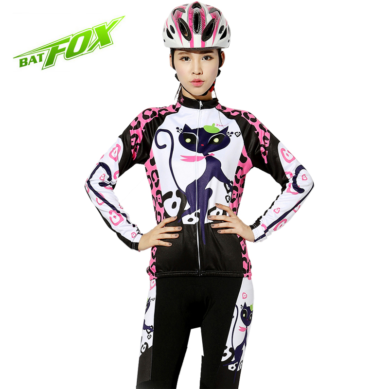 2017 Women Cycling Jerseys Bicycle Mountaion Quick Dry Mountain Bike Long Sleeve Catwoman Cycling Clothing Ropa Maillot Ciclismo rockbros titanium ti pedal spindle axle quick release for brompton folding bike bicycle bike parts