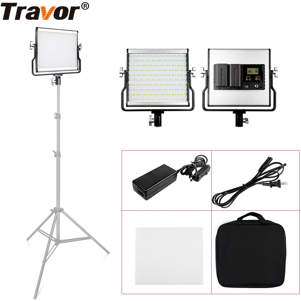 Travor L4500 LED Video Light 200PCS Dimmable Bi-color 3200K/5600K Camera Light For Studio Photography Lighting Shooting Light travor tl 600a 2 4g kit bi color led video light 3200k 5500k for photography shooting three light 6pcs battery 3 light standing
