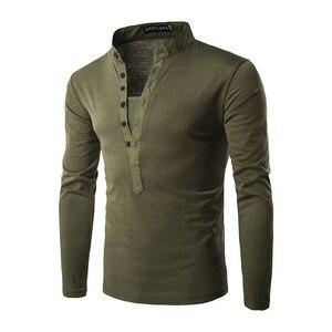 Image 4 - חדש מגמת שחור פולו חולצת גברים פולו Homme 2016 סתיו האופנה Mens Slim Fit ארוך שרוול הנלי חולצה מזדמן כותנה polos Xxl