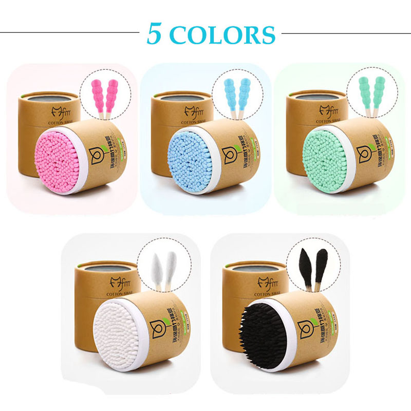 200pcs Bamboo Cotton Swab Wood Sticks Soft Cotton Buds Cleaning Of Ears Tampons Microbrush Cotonete Pampons Health Beauty