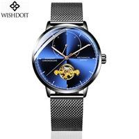 WISHDOIT Women Watch Automatic Mechanical Watches Ladies Top Brand Luxury Stainless Steel Dress Wristwatches Relogio Feminino