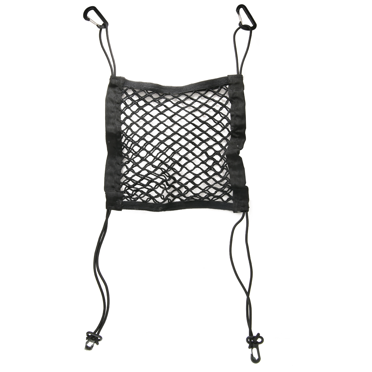 26cm*24cm Car Organizer Seat Back Storage Elastic Car Mesh Net Bag Between Bags Luggage Holder Pocket Car Styling