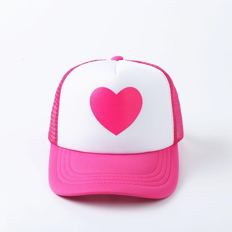 VORON Fshion New Cute Pink Rose Gravity Falls Mabel Dipper Mesh Summer Trucker Caps Young Pink Girl Cool Net Mesh Hat Cap Summer