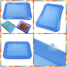 1 Pcs Beach Sandbox Magic Play Sand Inflatable Sand Toy Tray Kids Children's Education(China)
