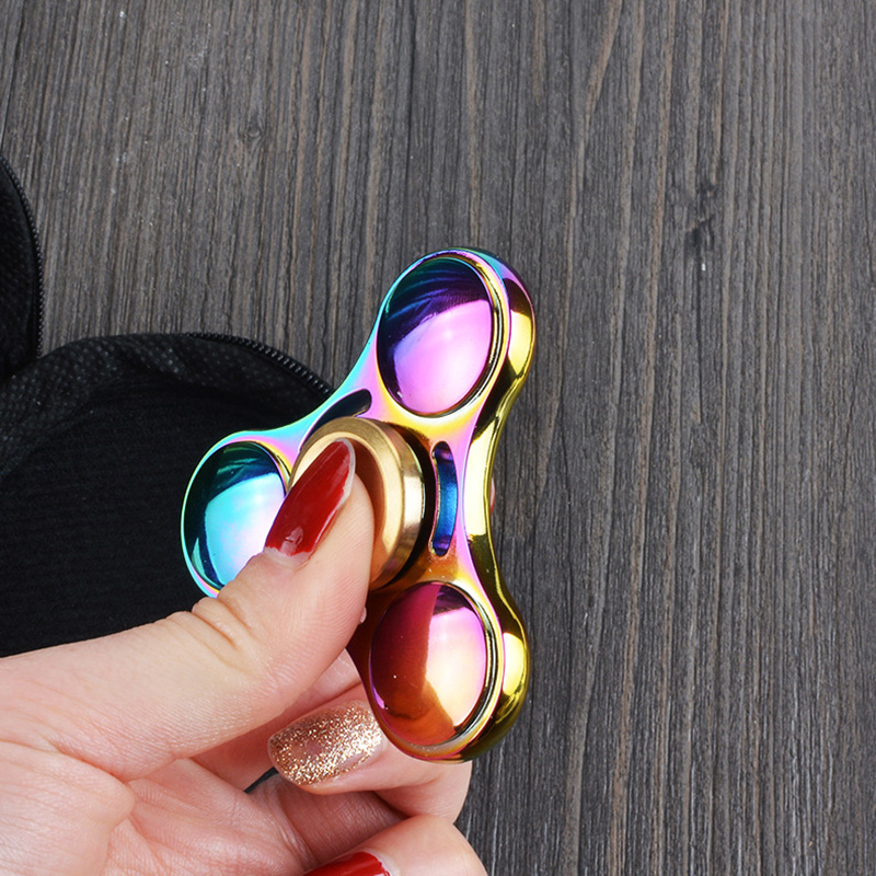 Rainbow Colors Fidget Spinner High Speed Titanium Hand Spinner Focus Fidget Toys Children Gift