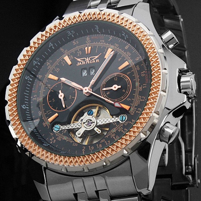 5178ff8e6 Mens Watches Top Brand Luxury JARAGAR Men Military Sport Wristwatch  Automatic Mechanical Tourbillon Watch relogio masculino -in Mechanical  Watches from ...