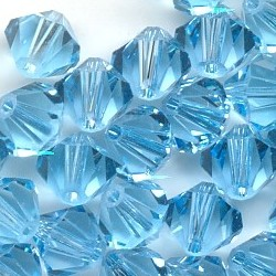 Free Shipping, 720pcs/Lot 3mm Aquamarine color Chinese Top Quality Crystal Bicone Beads