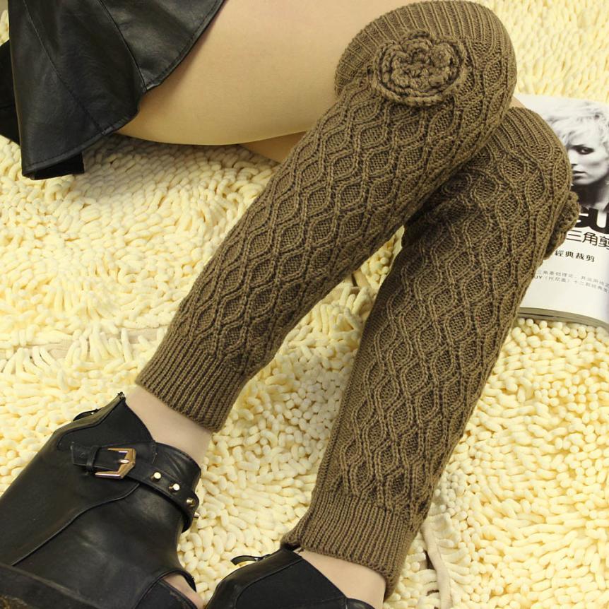 c732d0a75 Women s Cable Knit Leg Warmers Socks Acrylic women s knee high winter leg  warmer High school women s sports socks medias largas-in Cycling Socks from  Sports ...