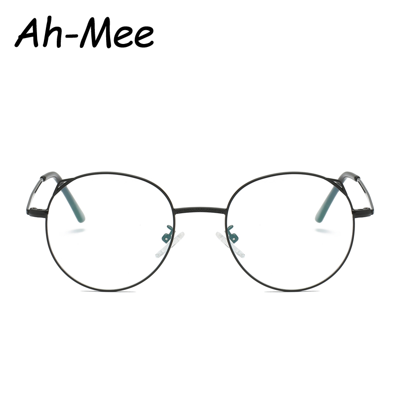 2019 Fashion Cat Eye Glasses Frames Women Men Eyeglasses Frame Vintage Round Myopia Clear Lens Glasses Optical Spectacle Frame