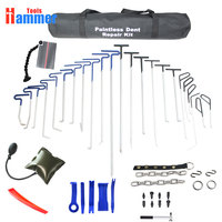 free shipping PDR Tools Hooks panel bag line board Push Rods Dent Removal Repair Tool Hand Tool Set