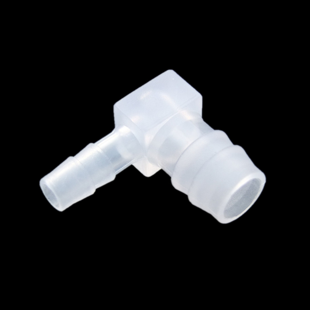 10pcs 4mm Equal Elbow  Barb Plastic Hose Tube Connection Joiner Adapter