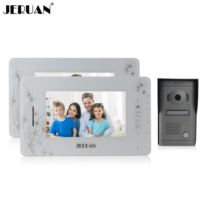 JERUAN 7 inch  video door phone intercom system doorbell video recording photo taking doorphone Speaker intercom capodarte босоножки