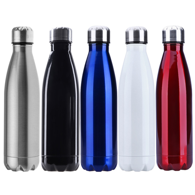 500ml Sports Water Bottle Cycling Camping Sports Stainless Steel Double Wall Vacuum vaso Insulation BOTTLES Keep Warmer Flasks