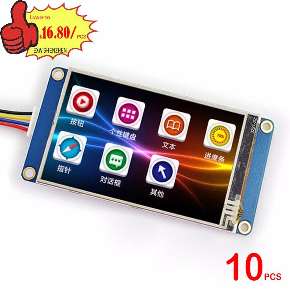 10PCS X 3.2 Nextion Basic HMI Intelligent Smart USART UART Serial Touch TFT LCD Module Display Panel for Raspberry Pi