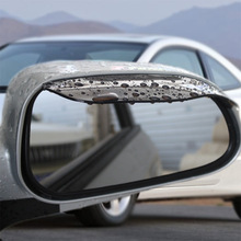 2Pcs Universal Flexible PVC Car Accessories Rearview Mirror Rain Shade Rainproof Blades Car Back Mirror Eyebrow