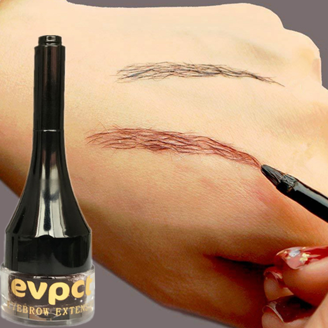 Eyebrow Enhancers Fiber Natural Hair Gel Makeup Eye Brow Extension Tinted Black Brown Long Lasting Tattoo Eyebrows Women