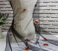 1 Cour Coeur Sequin Applique En Mousseline de Soie Tissu Dentelle Tissu Pour Artisanat Vêtements Robe De Mariage De Couture BRICOLAGE Vêtements Poupée Cap