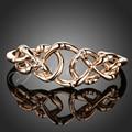 Jenia Elegant Love Bangle Bracelets Women Rose Gold Plated Twisted Cuff Bangle XB021