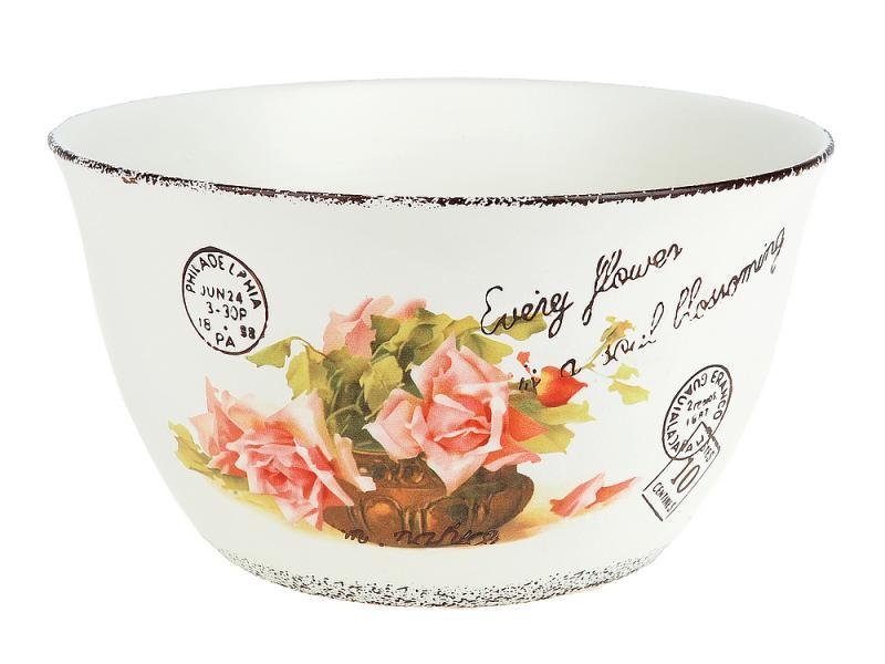 Салатник ENS, Персиковая роза, 22 см кружка ens group персиковая роза 325 мл