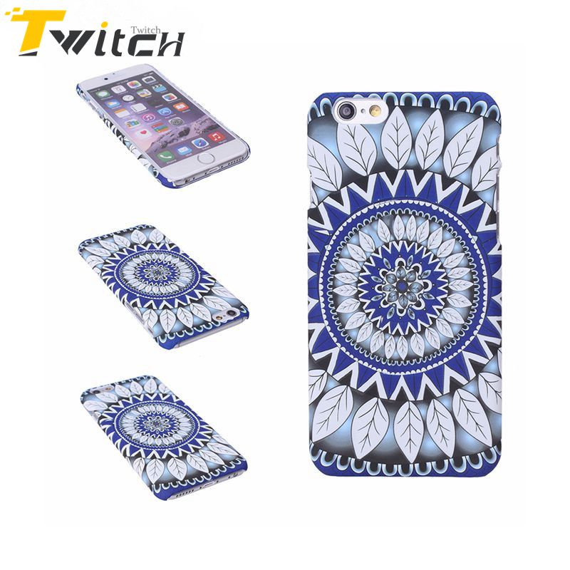 Twitch New Design Retro Mandala Flower Phone Case for iphone5 5S SE 6 6Splus 7 7plus Hard Plastic protect phone Shell back Cover