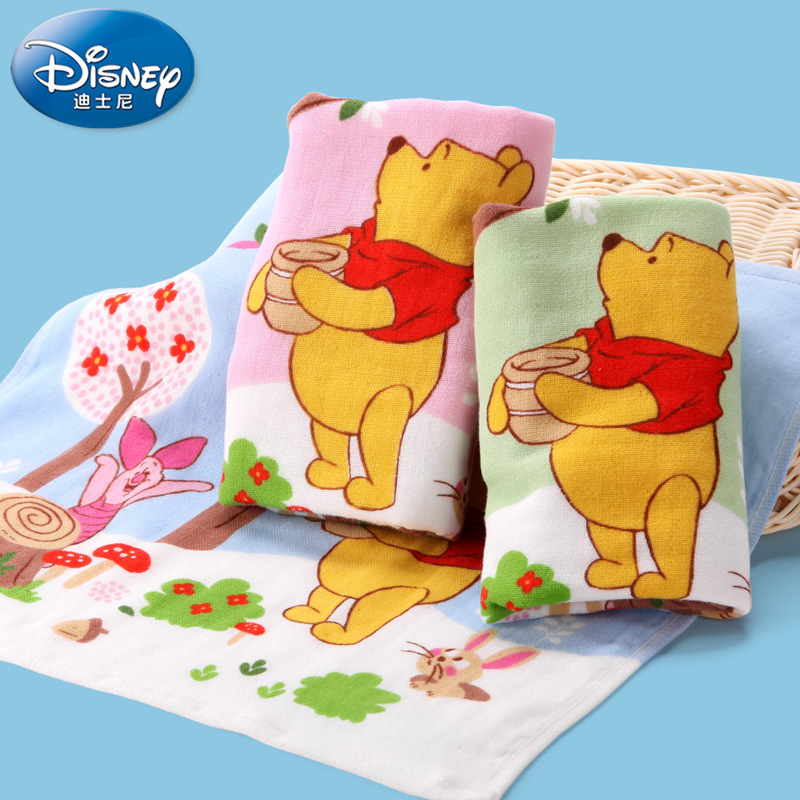 Disney Cartoon Towel 100% Cotton Gauze Face Towel Lovely and Soft Baby Care Wash Cloth Kids Hand Towel for Newborn Baby Textile