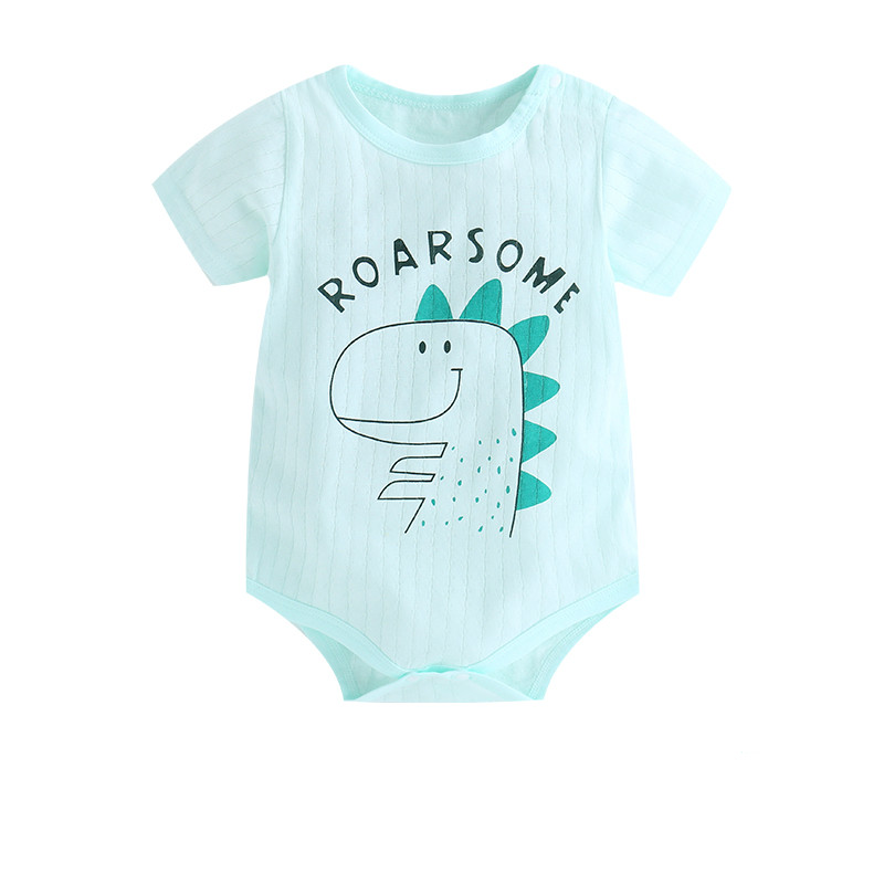 HTB1LhzIasrrK1RjSspaq6AREXXan New Summer Baby Boys Romper Animal style Short Sleeve infant rompers Jumpsuit cotton Baby Rompers Newborn Clothes Kids clothing