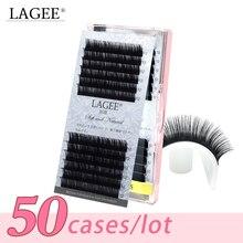 LAGEE 50 ถาดคุณภาพสูง Mink eyelash EXTENSION ขนตามิงค์ปลอม False ขนตาธรรมชาติ Make up เครื่องมือขายส่ง