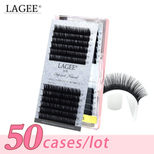 LAGEE 50 Trays high quality mink eyelash extension fake mink eyelash false individual eyelashes natural Make up tools wholesale